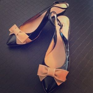 B'makowksy strapped heels with bow